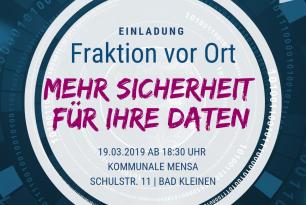 SPD-Landtagsfraktion vor Ort: Wir bringen Ihre Daten in Sicherheit