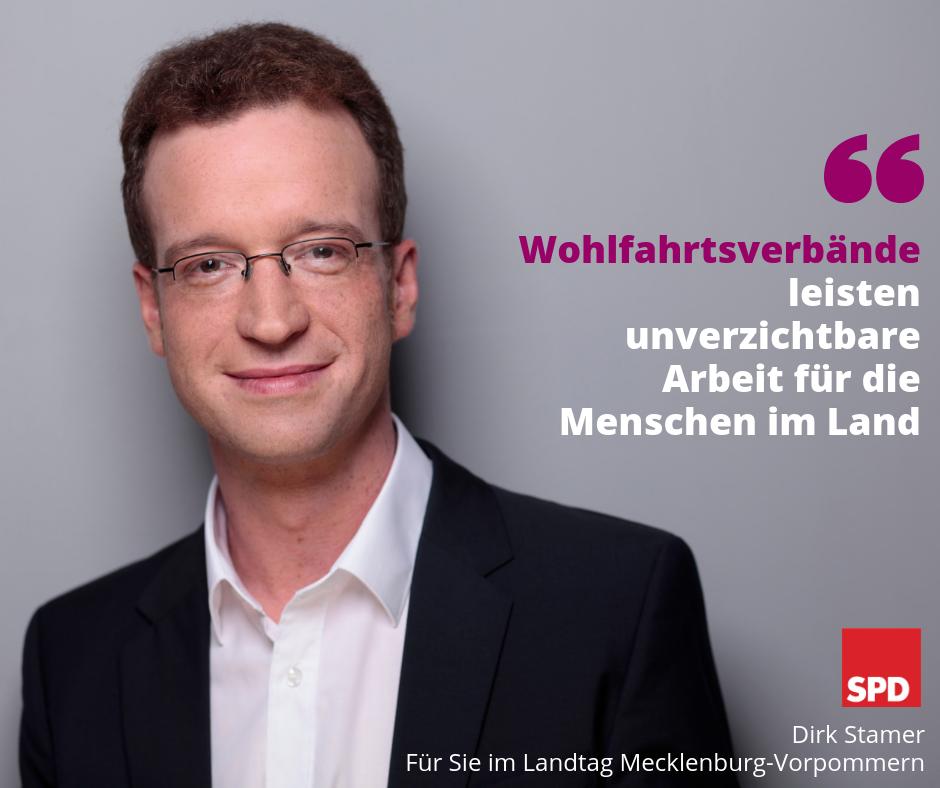 Zitat Dirk Stamer - Wohlfahrtsverbände leisten unverzichtbare Arbeit