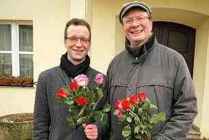 Rosen verteilen zum Frauentag 2018