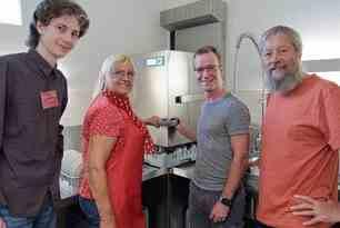 Gastrospülmaschine für Pfarrscheune Lichtenhagen-Dorf