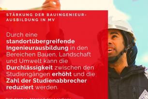 Stärkung der Bauingenieursausbildung in MV
