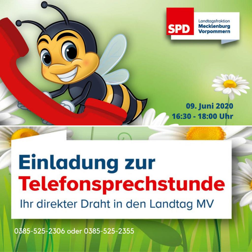 Einladung Telefonsprechstunde 9.Juni 2020