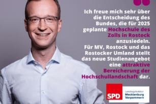 Bund investiert 150 Mio Euro in Hochschule des Zolls in Rostock